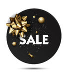 Christmas or New year holiday sale price circle sticker Royalty Free Stock Photo