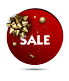 Christmas or New year holiday sale price circle sticker Stock Photography