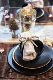 Holiday table  decorations Stock Photography