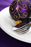 Christmas And New Year Holiday Table Setting Royalty Free Stock Photos