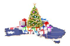 Christmas and New Year holidays in Australia concept. 3D renderi Royalty Free Stock Images