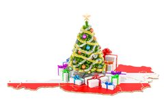 Christmas and New Year holidays in Austria concept. 3D rendering Stock Photography