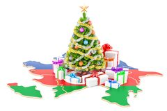 Christmas and New Year holidays in Azerbaijan concept. 3D render Royalty Free Stock Photography