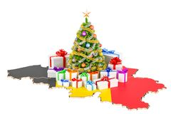 Christmas and New Year holidays in Belgium concept. 3D rendering Royalty Free Stock Image