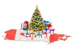 Christmas and New Year holidays in Canada concept. 3D rendering Stock Photo