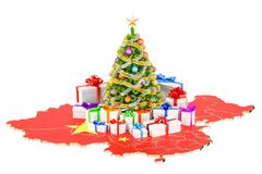 Christmas and New Year holidays in China concept. 3D rendering Stock Photography