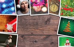 Christmas and New Year holidays collage. With copy space Stock Photo