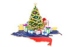 Christmas and New Year holidays in Colombia concept. 3D renderin Stock Photography