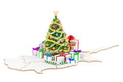 Christmas and New Year holidays in Cyprus concept. 3D rendering Royalty Free Stock Photo