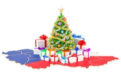 Christmas and New Year holidays in Czech Republic concept. 3D re Royalty Free Stock Photography