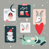 Christmas and New Year Holidays design elements set Royalty Free Stock Photos