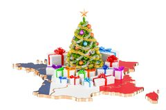 Christmas and New Year holidays in France concept. 3D rendering Royalty Free Stock Images