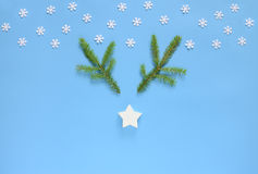 Christmas or New Year holidays greeting card concept Royalty Free Stock Photography
