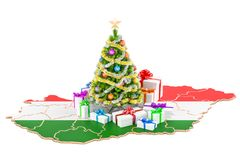 Christmas and New Year holidays in Hungary concept. 3D rendering Royalty Free Stock Photos