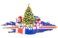 Christmas and New Year holidays in Iceland concept. 3D rendering Royalty Free Stock Images