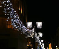 Christmas and New Year holidays illumination, Moscow Stock Photos