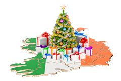 Christmas and New Year holidays in Ireland concept. 3D rendering Stock Photography