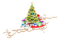 Christmas and New Year holidays in Japan concept. 3D rendering Stock Photography