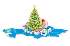 Christmas and New Year holidays in Kazakhstan concept. 3D  Royalty Free Stock Images