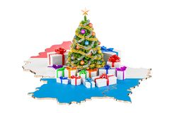 Christmas and New Year holidays in Luxembourg concept. 3D render Stock Photo