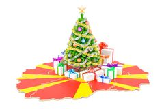 Christmas and New Year holidays in Macedonia concept. 3D   Royalty Free Stock Photo