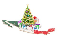 Christmas and New Year holidays in Mexico concept. 3D rendering Royalty Free Stock Photos