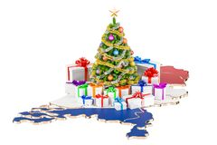 Christmas and New Year holidays in Netherlands concept. 3D rende Royalty Free Stock Photo