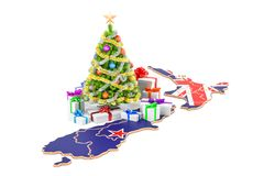 Christmas and New Year holidays in New Zealand concept. 3D rende Royalty Free Stock Photography