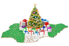 Christmas and New Year holidays in Nigeria concept. 3D rendering Royalty Free Stock Images