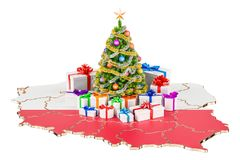 Christmas and New Year holidays in Poland concept. 3D rendering Stock Images