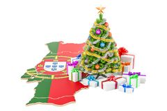 Christmas and New Year holidays in Portugal concept. 3D renderin Stock Photo