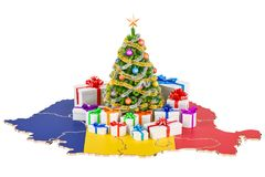 Christmas and New Year holidays in Romania concept. 3D rendering Royalty Free Stock Photos
