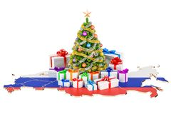 Christmas and New Year holidays in Russia concept. 3D rendering Stock Images