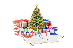 Christmas and New Year holidays in Serbia concept. 3D rendering Stock Image