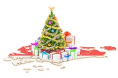 Christmas and New Year holidays in Singapore concept. 3D   Stock Photography