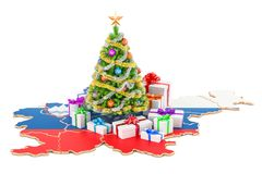 Christmas and New Year holidays in Slovenia concept. 3D  Stock Image