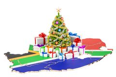 Christmas and New Year holidays in South Africa concept. 3D rend Royalty Free Stock Photos
