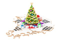 Christmas and New Year holidays in South Korea concept. 3D rende Stock Image