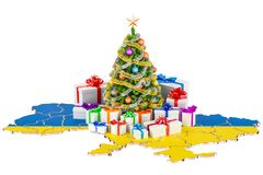 Christmas and New Year holidays in Ukraine concept. 3D rendering Stock Image