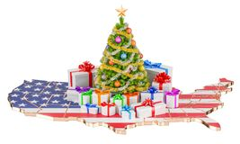 Christmas and New Year holidays in the USA concept. 3D rendering Stock Photography