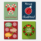 Christmas, New year holidays vector vertical banners, greeting cards with holiday symbols.  Stock Photography