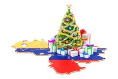 Christmas and New Year holidays in Venezuela concept. 3D renderi Stock Photo