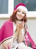 Christmas,New Year and Home Concept and Ideas. Portrait of Red-H Stock Photography