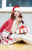 Christmas,New Year and Home Concept and Ideas. Portrait of Red-H Stock Photos