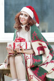 Christmas,New Year and Home Concept and Ideas. Portrait of Red-H Royalty Free Stock Photography