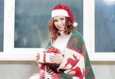 Christmas,New Year and Home Concept and Ideas. Portrait of Red-H Stock Image
