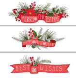 Christmas,New year horisontal banners Royalty Free Stock Photo