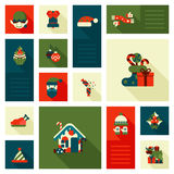 Christmas New Year icon set flat style sweets Stock Photography