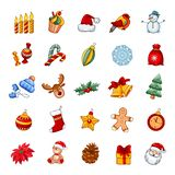 Christmas and New year icon set stock illustration