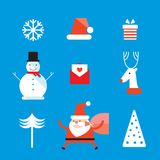 Christmas and New Year icon set Stock Image